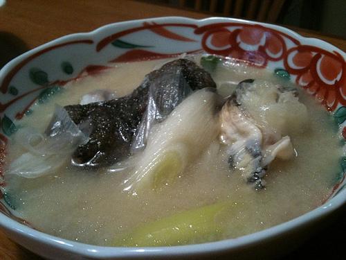 魚へんに秋という漢字 鰍の吸い物の画像