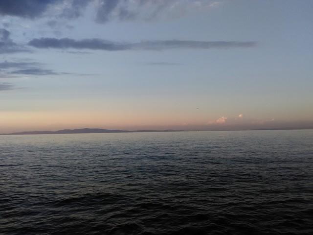 冬の海 夕暮れ