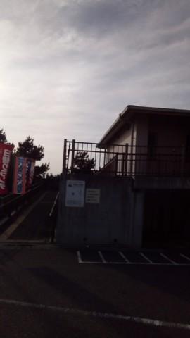 シーバス釣り場 大阪 花市場公園前周辺 食堂の駐車場