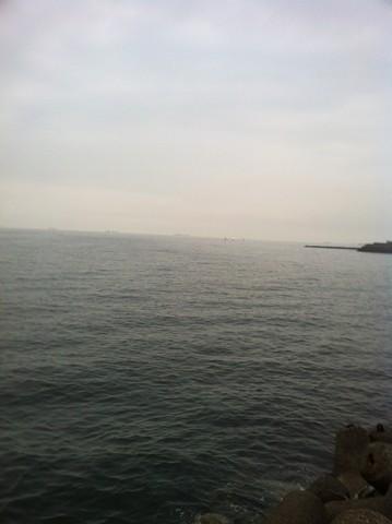 テトラでの釣り方 雨の近くの曇り