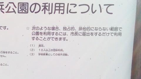 甲子園浜 許可が必要な行為2