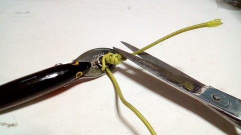 釣り糸や針の結び方 完全結び(漁師結び) (7)