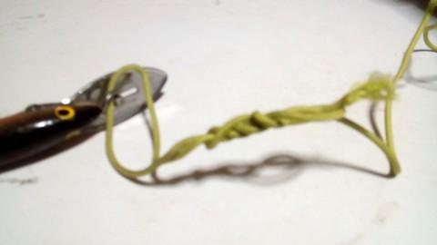 釣り糸や針の結び方 ハングマンズノット (4)
