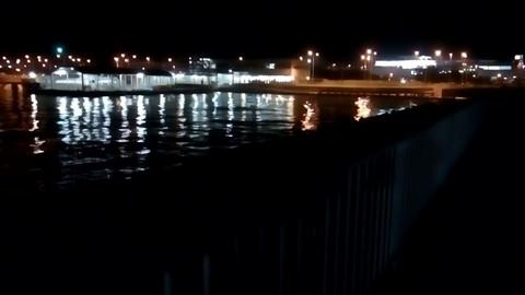 関空行きのシャトル船ターミナル近く