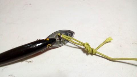 釣り糸や針の結び方 ループノット (5)