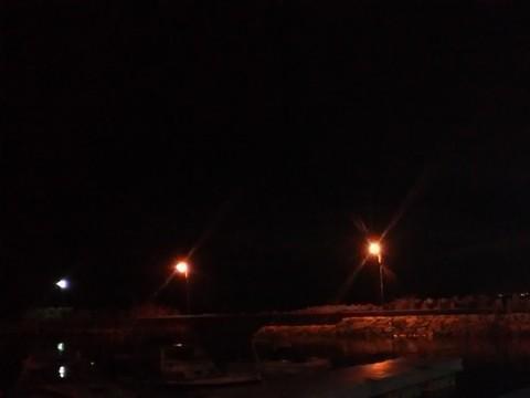 漁港の常夜灯